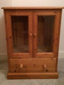 Solid pine entertainment unit / cupboard / storage