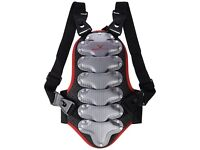 Back Protector - Black Crevice Adult Snowboard Ski - Size M