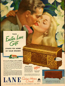 Large 1946 full page color ad for Lane Cedar Chests