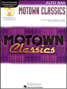 Motown-Classics-Alto-Sax-Saxophone-Instrumental-Play-Along-Sheet-Music-Book-CD