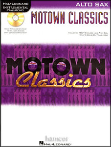 Motown Classics Alto Sax Saxophone Instrumental Play-Along Sheet Music Book & CD