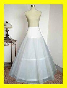 Petticoat Crinoline Hoopless Underskirt Wedding Petticoat White A Line 2 Hoop