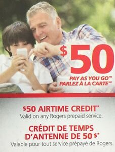 Rogers Pay as you Go Top Up $30