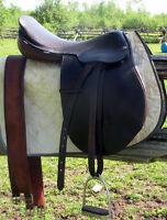 "17"" Leather CC Saddle For Sale"