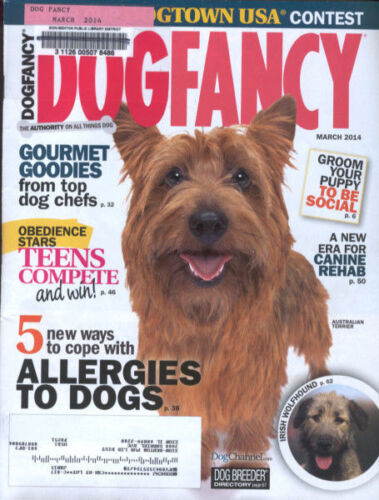 Dog Fancy Magazine March 2014 Australian Terrier Irish Wolfhound Allergies