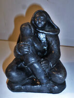 Vintage soapstone sculpture of mother and child
