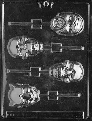 SCARY FACES LOLLY Halloween Sucker Chocolate Candy Mold LOP-H023