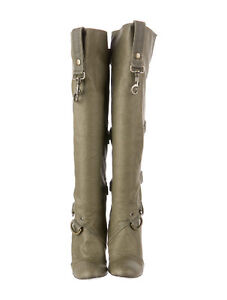 Stella McCartney Olive Green Canvas Buckle Boots, Size 37 Gatineau Ottawa / Gatineau Area image 4