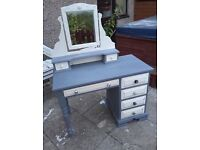Shabby chic dressing table and chest of drawers
