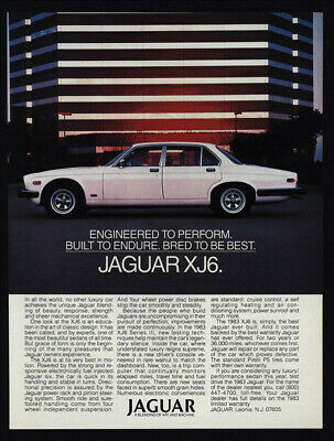 1983 JAGUAR XJ6 Series White Luxury Car VINTAGE AD