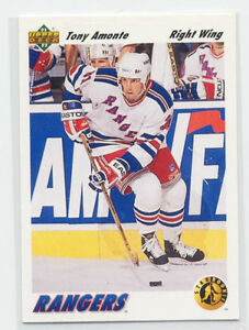 TONY AMONTE ... 1991-92 Upper Deck .... ROOKIE CARD (card # 450)