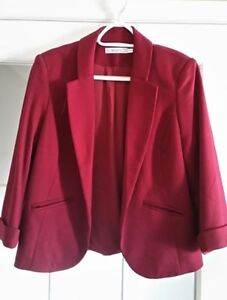 Ladies Red Blazer - Size Large - Like New/Never Worn