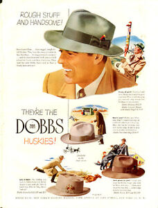 1948 full-page (10 x 13 ¼ ) color, magazine ad for Dobbs Hats