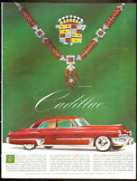 Beautiful authentic1949 full-page color magazine ad for Cadillac