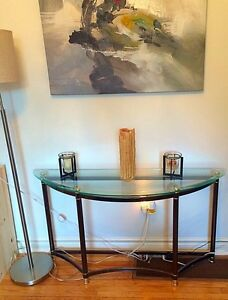 Half Moon Glass Console
