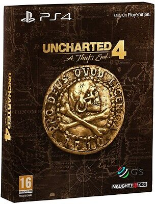 Uncharted 4 A Thief's End Special Steelbook Edition PS4 * NEW SEALED PAL * for sale  Shipping to Nigeria