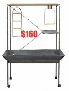 Brand New Large Parrot Bird Play Stand with Ladder and Swing