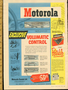 Motorola car radio 1955 large (15 by 11 1/4) print Ad