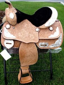"12"" 13""  Kids Western Pony Leather Youth Saddle Silver Show New London Ontario image 1"