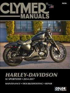 2014-2017 Harley Davidson Sportster XL 883 1200 CLYMER REPAIR MANUAL M256
