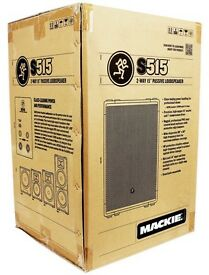 Mackie S515 Passive loud speakers BOTH IN ORIGINAL BOXES AND NEVER USED £500.00 ovno (for both)
