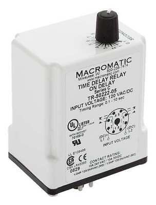 Time Delay Relay120vacdc10adpdt Macromatic Tr-50222-05