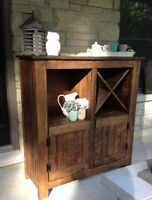 Rustic dining hutch
