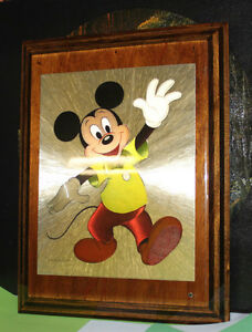 MICKEY MOUSE PLAQUE Baby's Room Picture