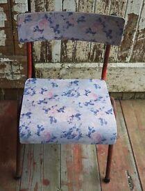 Vintage children's decoupaged school chair