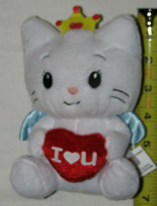 Plush White Angel Cat Toy with Crown & Wings with Love Heart London Ontario image 1