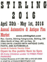 STIRLING AUTOMOTIVE FLEA MARKET 2016 April 30 to May 1
