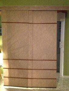 Panneaux coulissants pour porte patio habillage de for Porte patio 60 pouces