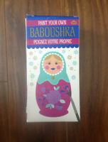 Paint Your Own Baboushka Matryoshka Russian Nesting Doll Kit