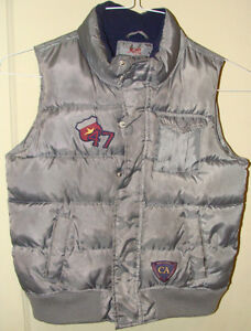 Silver/Gray Puffy Vest size 6/7