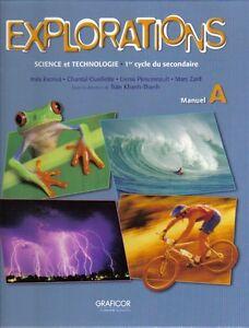 Explorations Manuel A - Secondaire 1