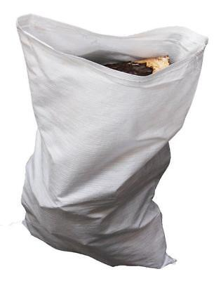 100 x White Woven Polypropylene Builder Rubble Sand Sacks Bags 18
