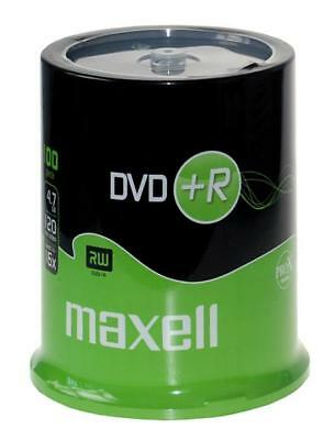 100 DVD + R Maxell Rohlinge DVD+R 16x Rohling Neu 4,7GB 100er cakebox TOP