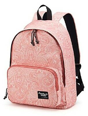 "Baida School Bag with Printed Patterns For Teen Backpack Fit 14"" laptop Pink"