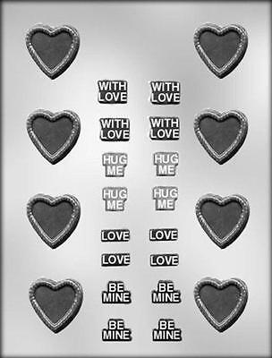 Message Heart Valentine Chocolate Candy Mold from CK #1013 - NEW ()
