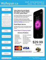 Wii $60 (flat rate)  Wii U $100 (flat rate)  Repairs come with a
