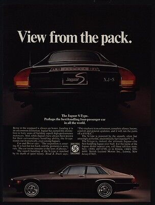 1977 JAGUAR XJ-S Luxury Car - S-Type - Vew From The Pack - VINTAGE AD