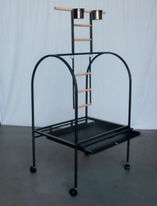 146 CM Large Bird Parrot Cage Playpen Gym Toy Stand On Wheels