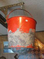 CN Canadian National Railrway fire bucket