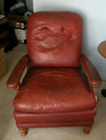2 Antique Leather Arm Chairs