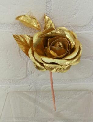 Flor Detalle Rosa Individual Color Oro Bodas de Oro Matrimonio 50 Años