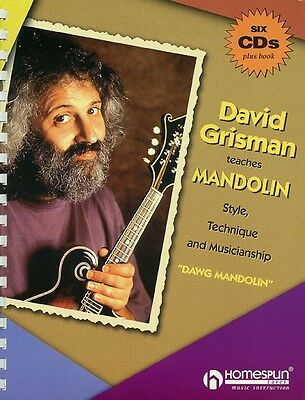 David Grisman Teaches Mandolin Sheet Music Guitar Book and CD NEW 000641426