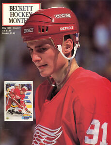 Beckett Hockey # 7 - May 1991 - SERGEI FEDOROV & AL MacINNIS