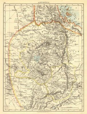 HABESH or ABYSSINIA. Tigre Amhara Shoa Godjam. Ethiopia. JOHNSTON 1899 old map
