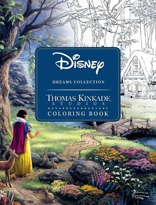 Thomas Kinkade The Disney Dreams Collection Coloring Book  (2017, Paperback)