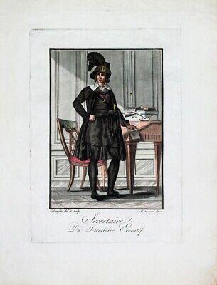 1. Direktorium Französische Revolution Sekretär Beamter Mode Tracht Kostüm Paris